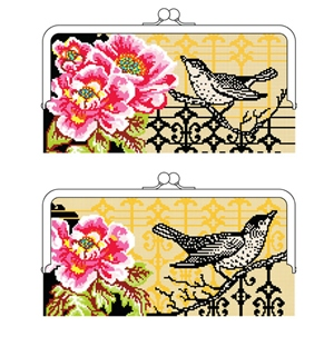 Bird and Peony Clutch Bag Kit