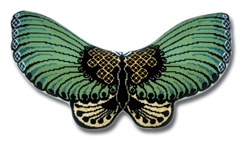 Green Deco Butterfly PDF Chart